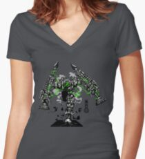 The Game of Kings, Wave Six: The Black Queen-Bishop's Pawn Women's Fitted V-Neck T-Shirt