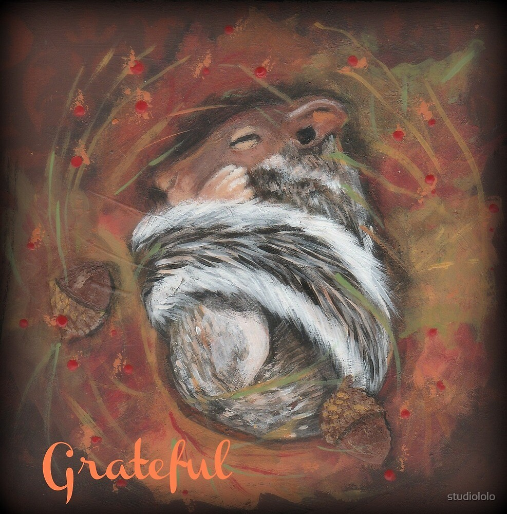 Grateful sleeping baby squirrel by studiololo