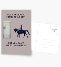 You Can Lead a Horse to a Door Postcards