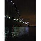 Verrazano Narrows Bridge, #Verrazano, #Narrows, #Bridge, #VerrazanoNarrowsBridge, #VerrazanoBridge, #NewYorkCity, #NewYork, #Brooklyn, #StatenIsland, #water, #night, #lights by znamenski