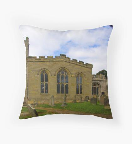 St Peter's Church-Brafferton Helperby,North Yorks Throw Pillow