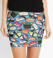 Blue Sushi Mini Skirt