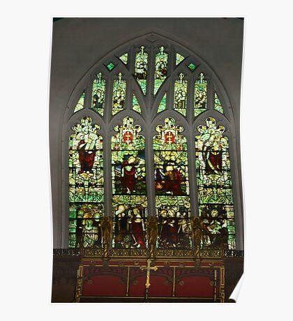 Window #1 St Peter's Church  Poster