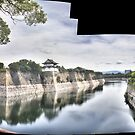 Murailles et douves (Osaka Castle) by Christophe Mespoulede