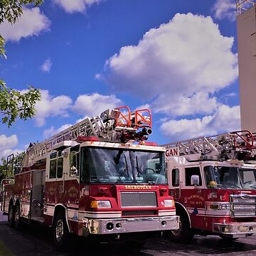 Fire Rescue Ladder Trucks by Graphxpro