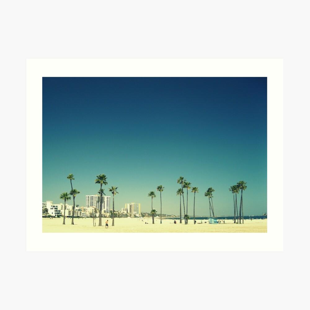 Summer Beach Blue Lámina artística