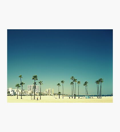 Summer Beach Blue Photographic Print