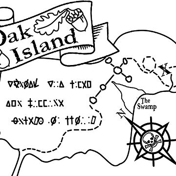 Oak Island Map T Shirt By Tammaraw