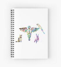 Veterinary Clinic Symbol Spiral Notebook