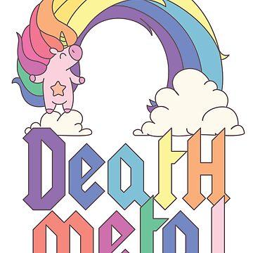 Funny Death Metal Unicorn Cute Rock Music Band Lover by kolbasound