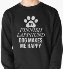 My Finnish Lapphund Makes Me Happy - Gift For Finnish Lapphund Parent Pullover