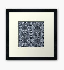 Grey Hourglass Pattern Framed Print