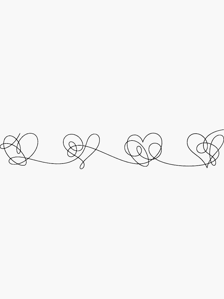 BTS Liebe dich selbst Antwort Herzen (schwarz) von Laurki
