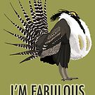 Fabulous Gunnison Sage-Grouse (support the Bird Conservancy of the Rockies) by BennuBirdy