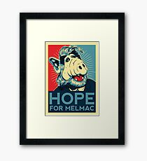 Hope For Melmac, Obama Yes We Can Parody With Alf Alien, Original Design T-Shirt, tshirt, tee, jersey, poster, artwork Framed Print