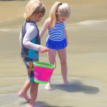 Summer At The Beach by janegirardot