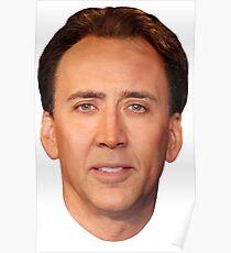 Nicolas Cage's Head Poster