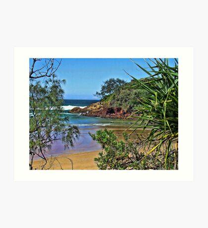 """""""Little Beach' Red Rock. Art Print"""
