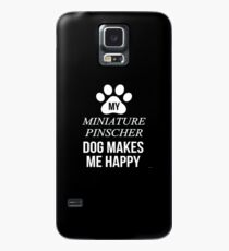 My Miniature Pinscher Makes Me Happy - Gift For Miniature Pinscher Parent Case/Skin for Samsung Galaxy