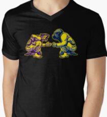 Kampfkunst - Lebensart # 1 - Tiger vs. Gorilla - Jiu Jitsu, Bj. Judo T-Shirt mit V-Ausschnitt für Männer