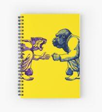 Martial Arts - Way of Life #1 - tiger vs gorilla - Jiu jitsu, bjj, judo Spiral Notebook