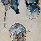 Three Views of a Helmet, by Albrecht Dürer by edsimoneit