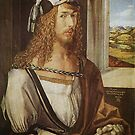 Dürer, 1498 Self-Portrait at age 26  by edsimoneit