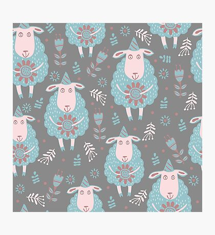 Cute moutons Photographic Print