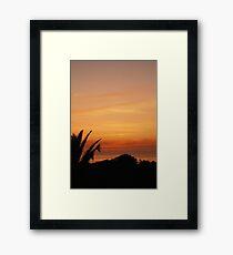 Sunset, Espinho Framed Print