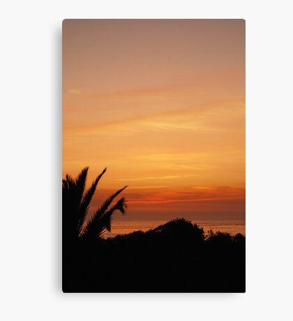 Sunset, Espinho Canvas Print