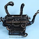 Full Color Vintage Style Octopus Typewriter by octotypewriter