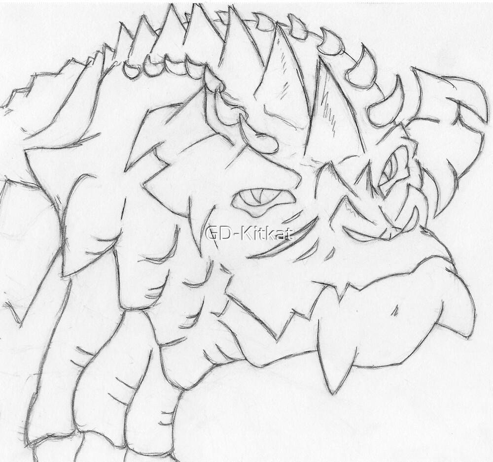 Dragon Sketch 1 by GD-Kitkat