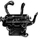 B&W Vintage Octopus Typewriter by octotypewriter