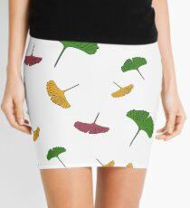 Ginkgo pattern, ginkgo biloba, australian leaf, leaves, nature, gingko Mini Skirt
