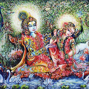 Radha Krishna - Divine Lovers by hlmalik