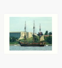 H.M.S.Bounty-Sailpast Art Print