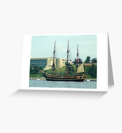 H.M.S.Bounty-Sailpast Greeting Card