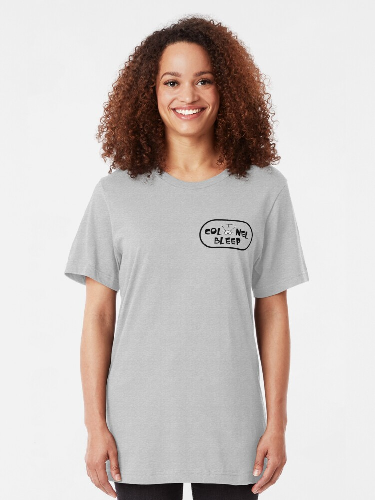Alternate view of Colonel Bleep Logo Varriants Slim Fit T-Shirt