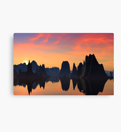 Monos Lake Hoodoo's Canvas Print