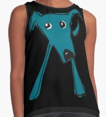 Blue dog Contrast Tank