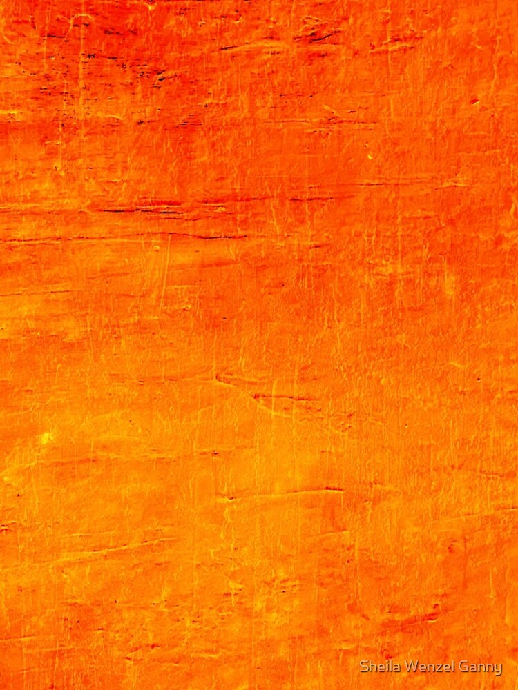 Orange Sunset Textured Acrylic Abstract by SheilaWenzel