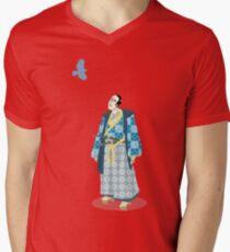 Samurai Serenity Men's V-Neck T-Shirt