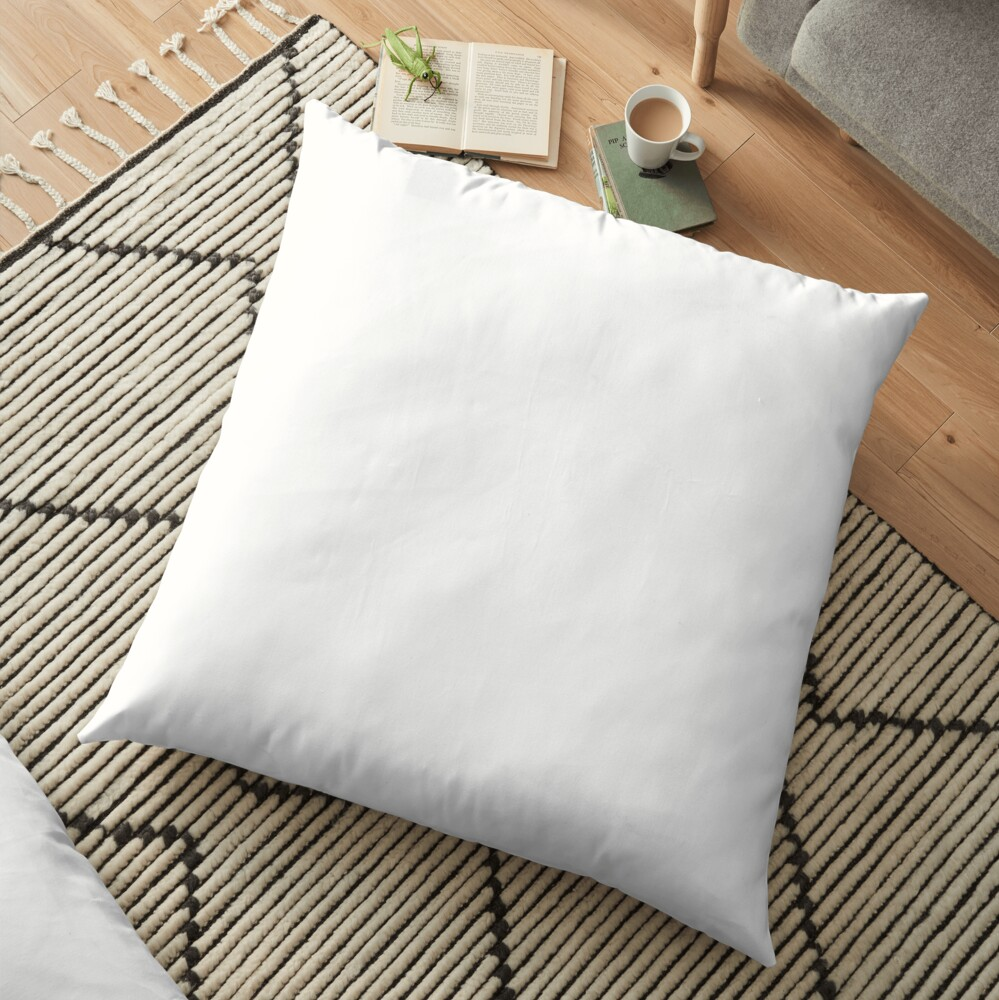 PLAIN WHITE | VERY WHITE | NEUTRAL SHADE | WE HAVE OVER 40 SHADES AND HUES IN THE NEUTRAL PALETTE Floor Pillow