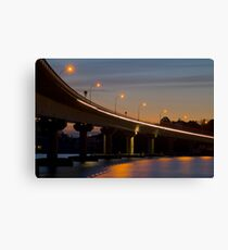 Tauranga Harbour Bridge at night Canvas Print