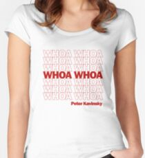 Whoa Whoa Wow! Peter Kavinsky Tailliertes Rundhals-Shirt