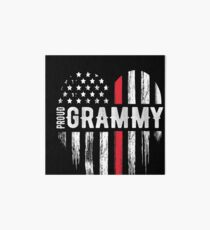 Thin Red Line Heart Grammy Grandma Firefighter Art Board