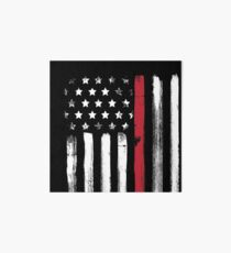 American Flag Thin Red Line Firefighter Art Board
