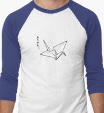 Paper Crane Color Men's Baseball ¾ T-Shirt