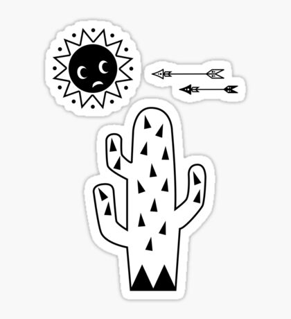 Rocking cactus Sticker