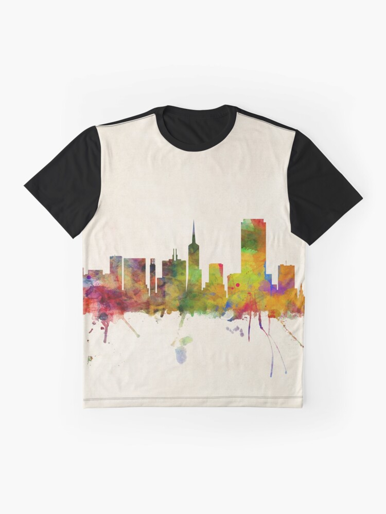 Alternative Ansicht von Skyline von San Francisco Grafik T-Shirt